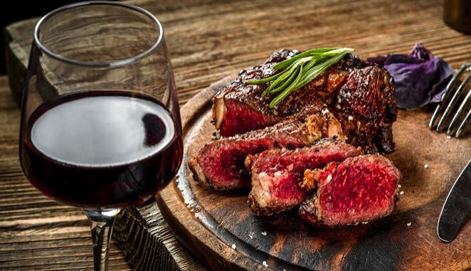 Steak dinner at Lucciola