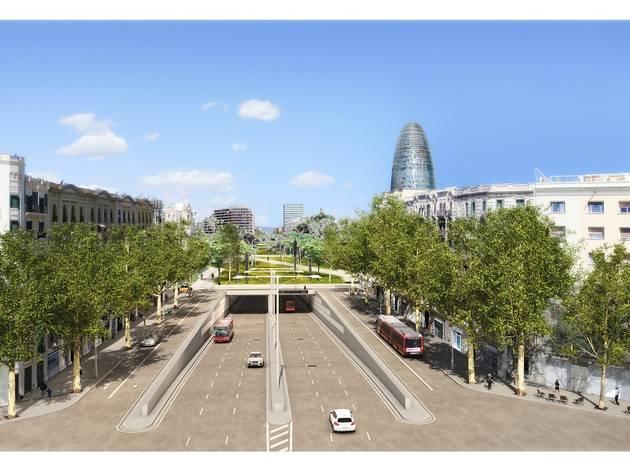 Recreació de l'entrada als túnels pel carrer Castillejos