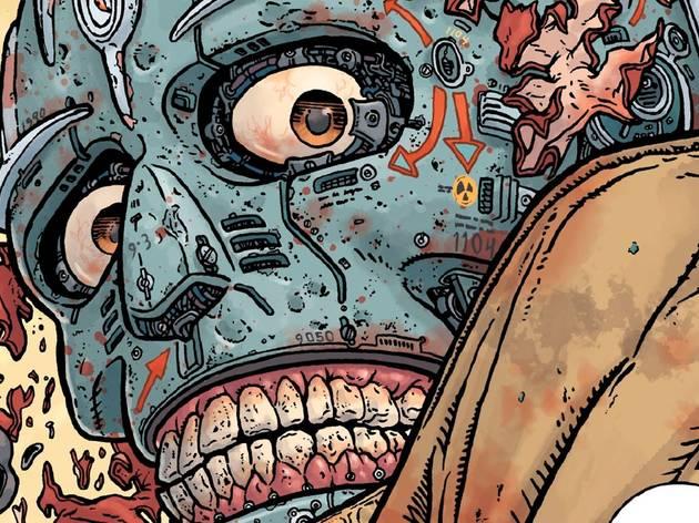 Ilustración de un cyborg