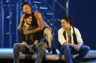 Mark , Roger and Collins in Rent at Sydney Opera House