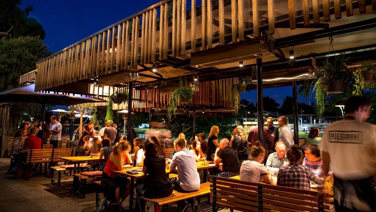 Pilgrim bar on the north bank of the Yarra River, Melbourne
