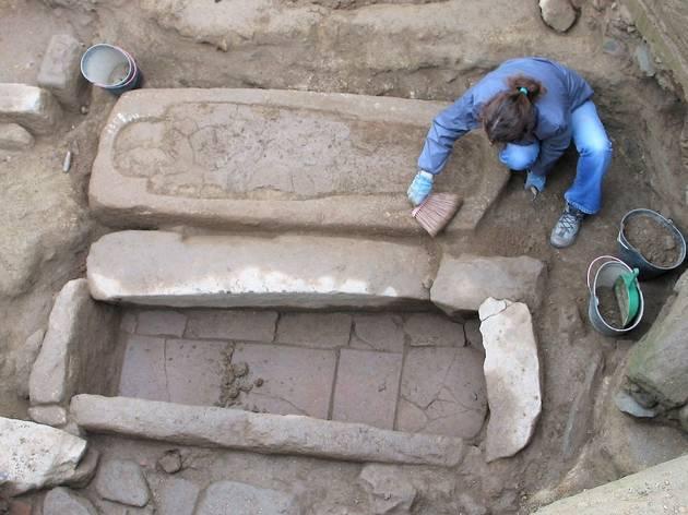 Foi encontrada uma necrópole paleocristã e alti-medieval