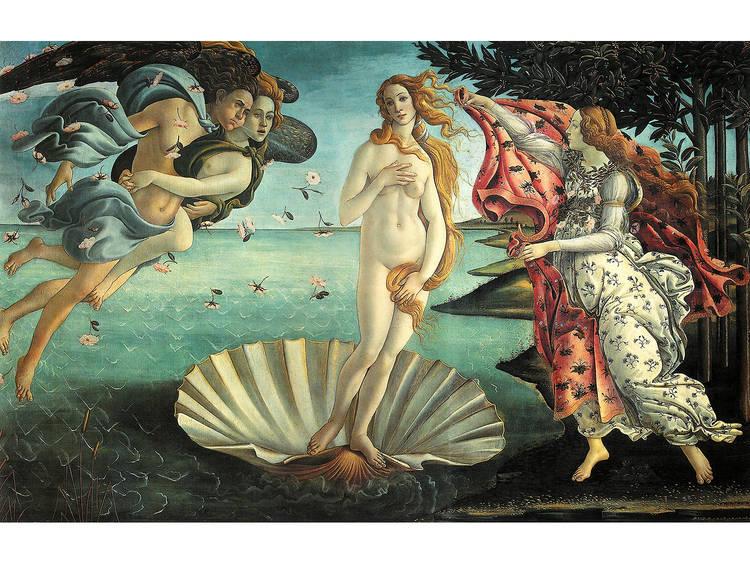 Sandro Botticelli, El nacimiento de Venus, 1484-1486