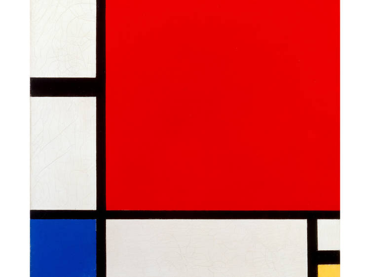 Piet Mondrain, Composición con rojo, azul y amarillo, 1930