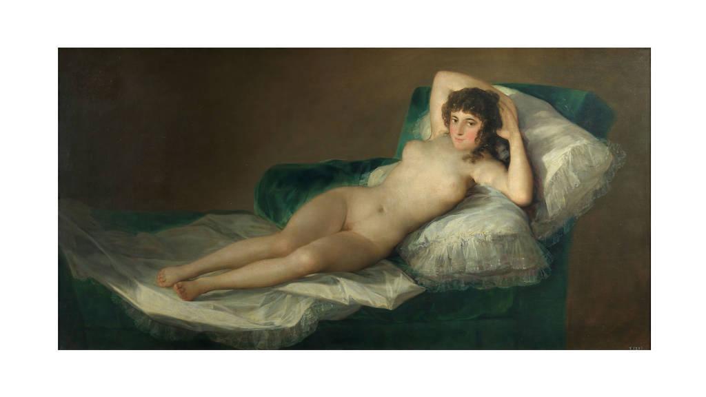 Francisco de Goya y Lucientes, La Maja desnuda, circa 1797-1800