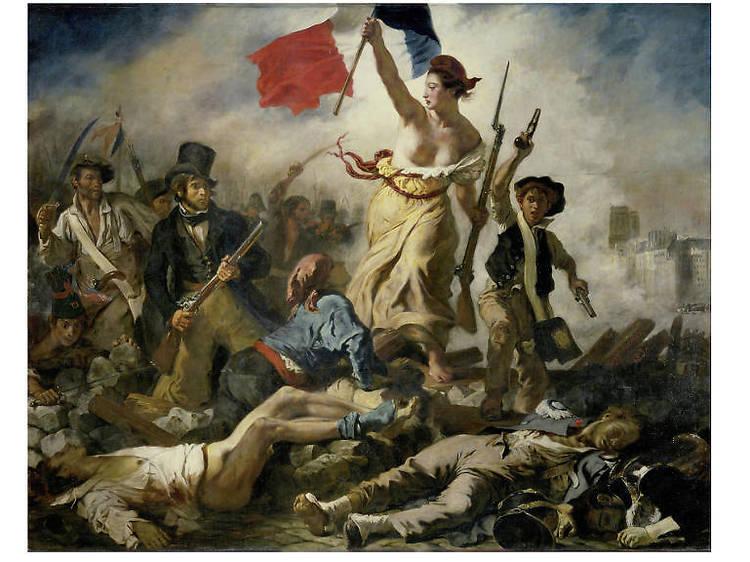 Eugene Delacroix, La Libertad guiando al pueblo, 1830