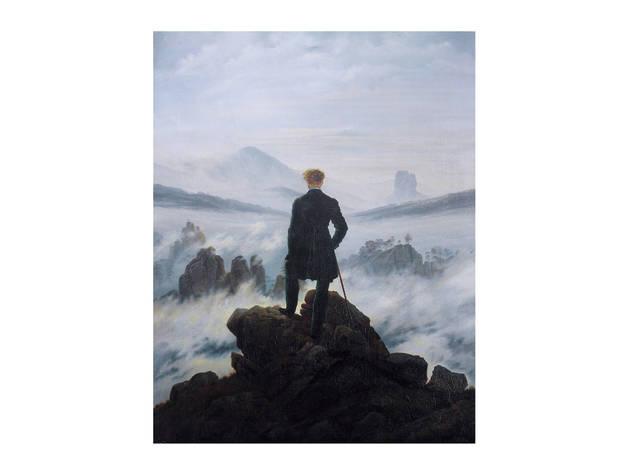 Caspar David Friedrich, El caminante sobre el mar de nubes, 1819