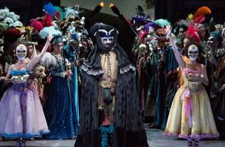 A masquerade ball scene from Verdi's opera Ernani