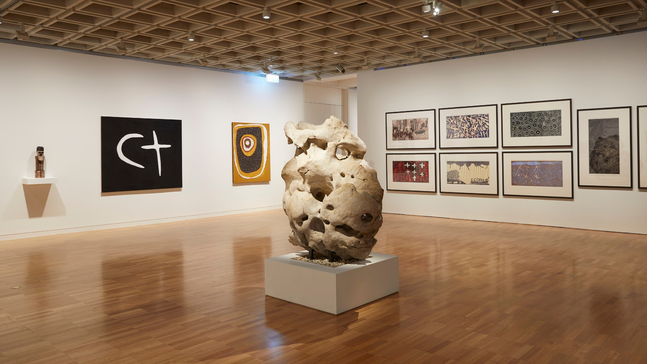 Installation view of the Under the Stars exhibition at the Art Gallery of NSW, artworks © the artists.