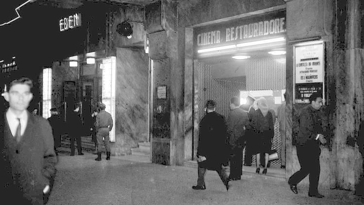 O Pátio das Antigas, Lisboa Antiga, Cinema Restauradores, Edifício Eden