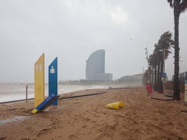 Se acerca el temporal Hortense en Barcelona