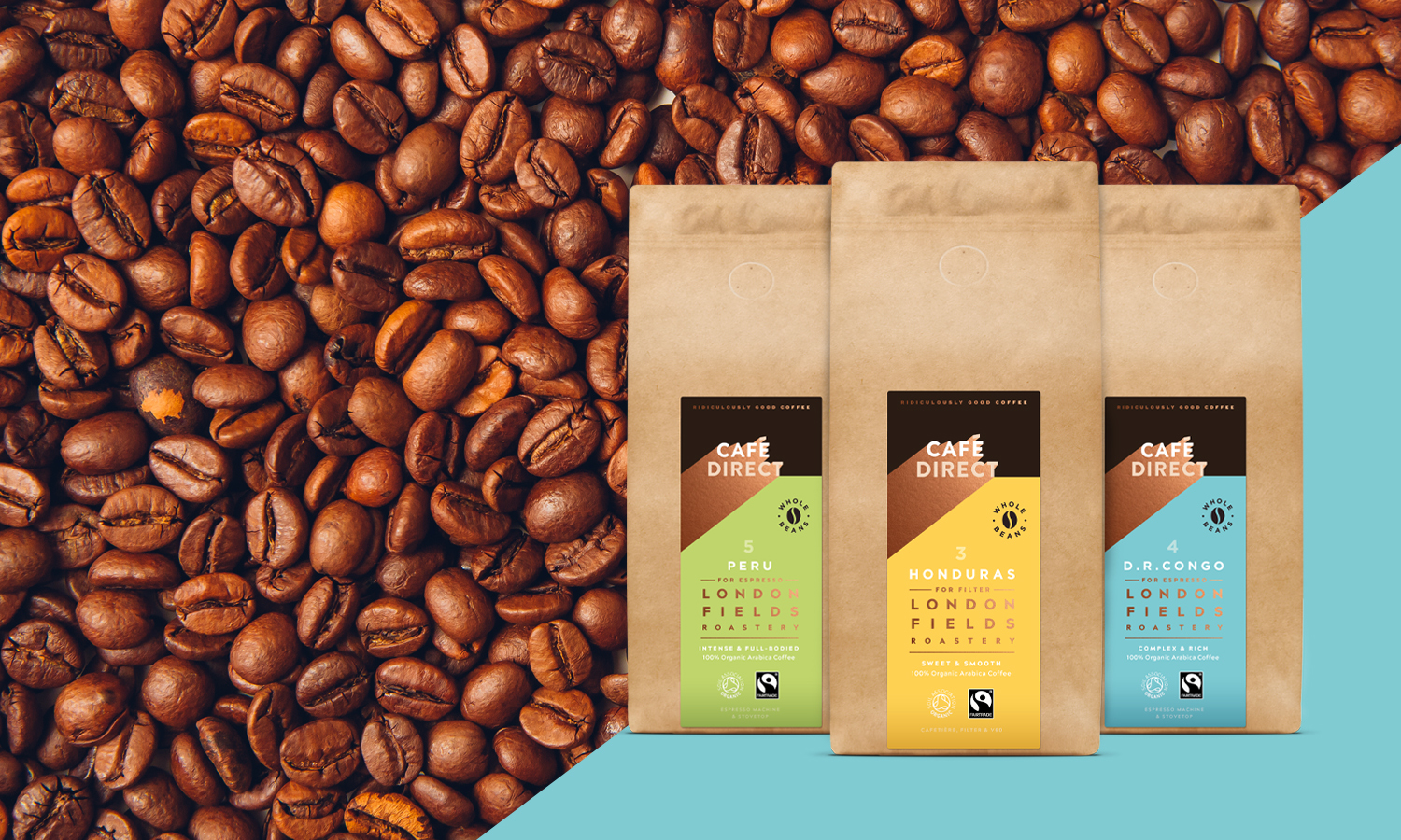 Two kilograms of coffee for £20 from Cafédirect