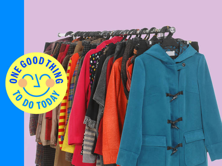 Donate a coat to a 'Take One Leave One' rail in Peckham