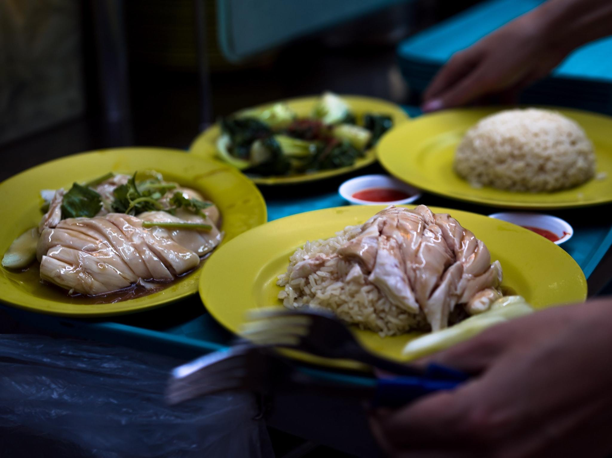 Chicken Rice, Hawker