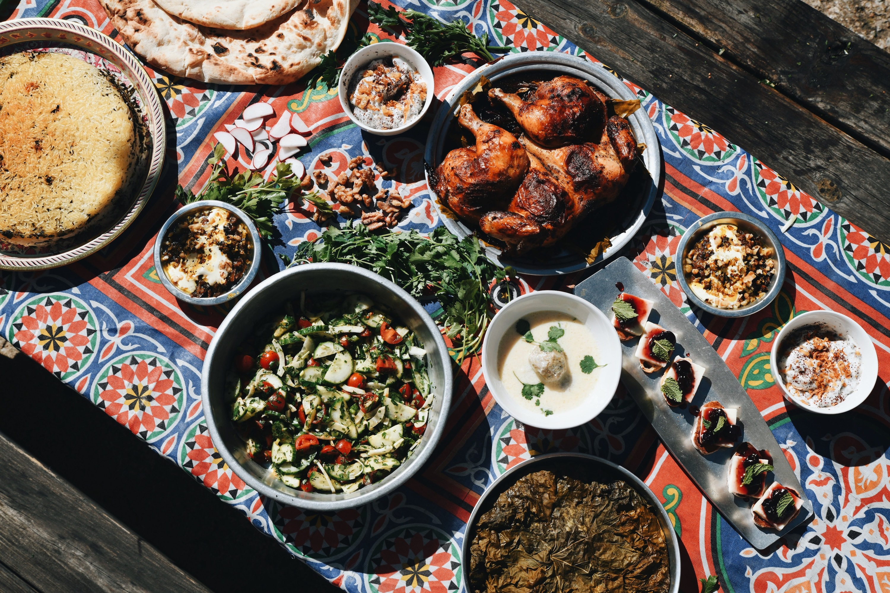 A local musician is making ends meet by cooking Persian and Armenian meals