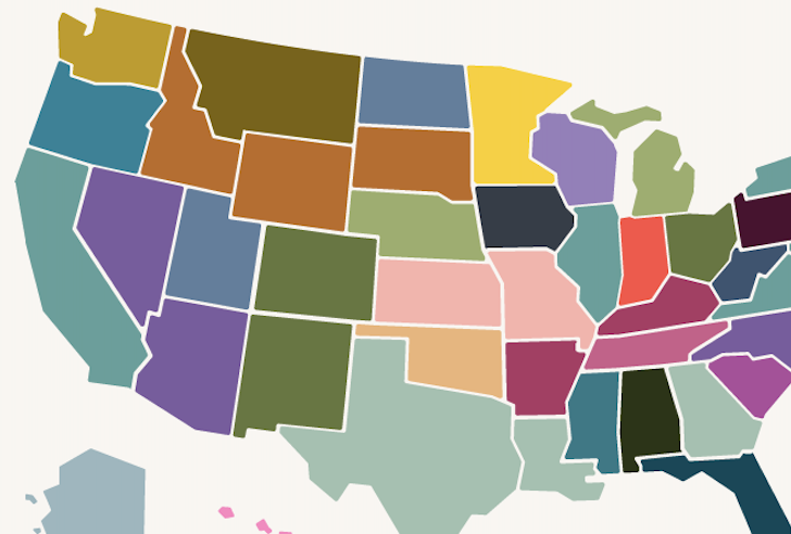 This map highlights each state's favorite comfort food
