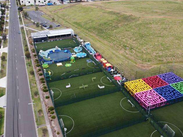 Inflatable Fun Park 2021 aerial shot