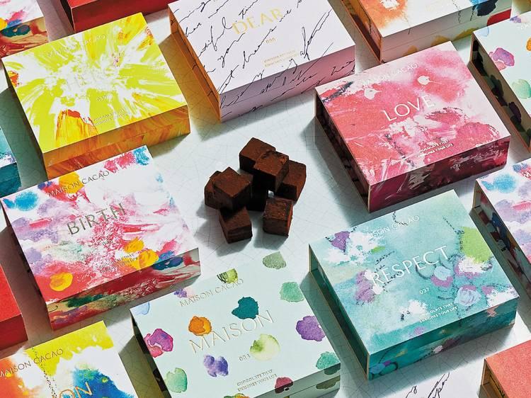 生チョコレートにアート、詩、音楽を添えて