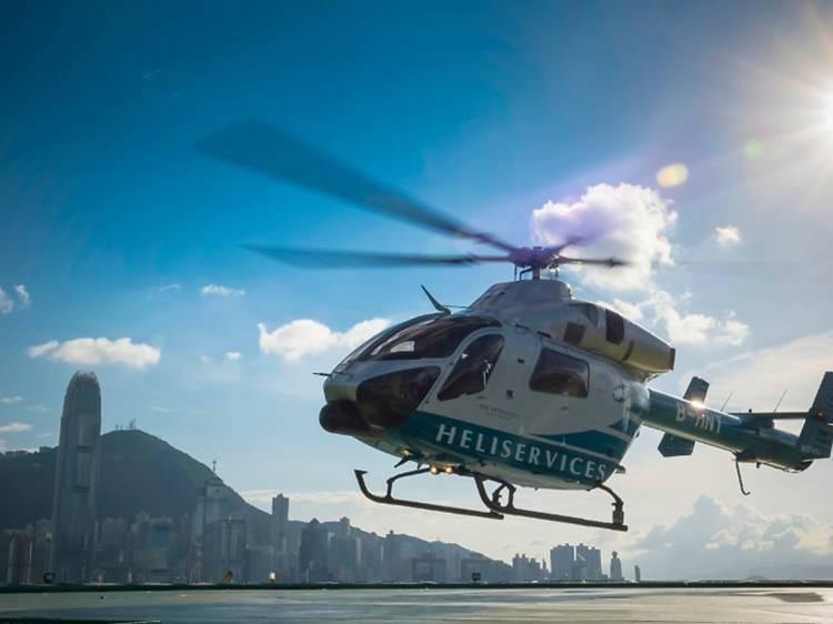 直升機之旅:香港半島酒店