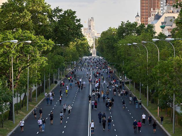 Paseo del Prado peatonal