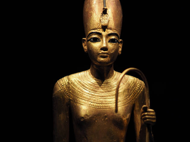 Golden statuette from the 2019-20 exhibition 'Tutankhamun, Treasures of the Golden Pharaoh'