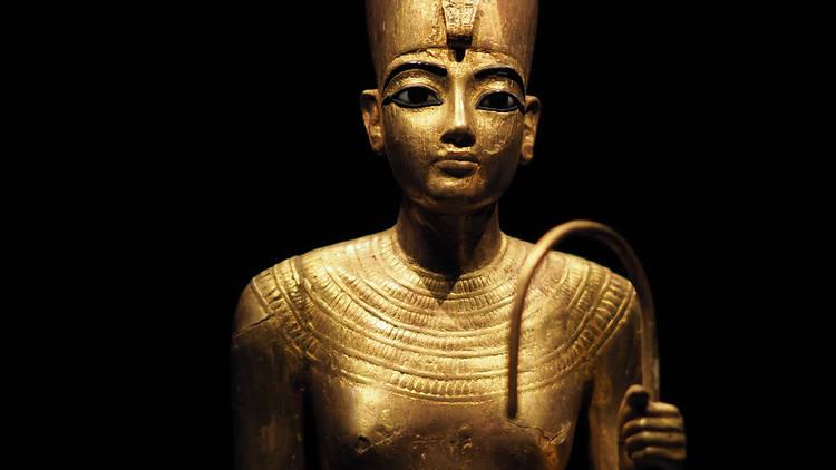 Golden statuette from the 2019-20 exhibition 'Tutankhamun, Treasures of the Golden Pharaoh'