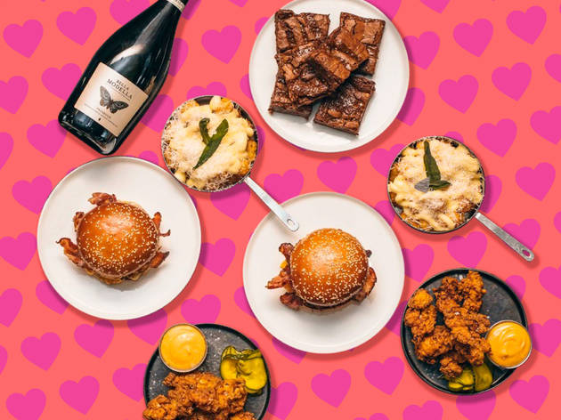 Valentine's Day meal kit from burger and beyond