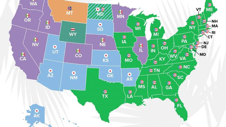Top future travel destinations by state