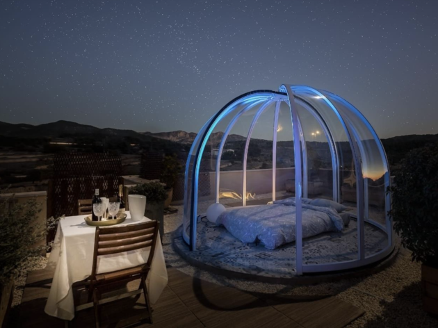Finca Pao. Suite superior bubble. Hotel burbuja