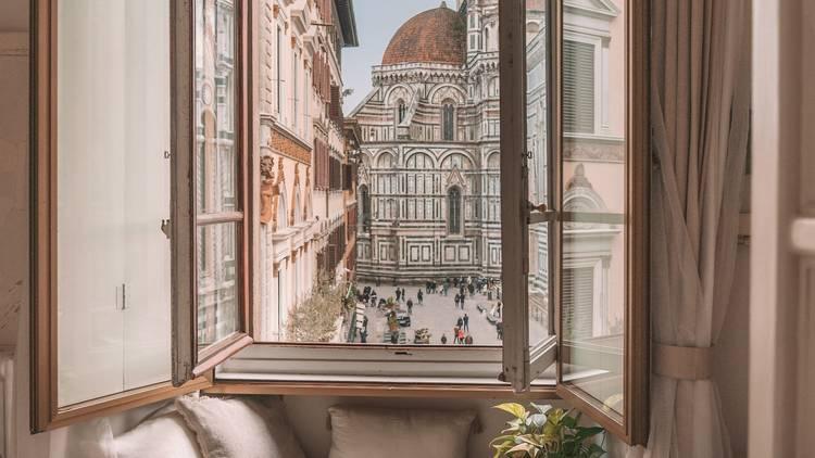 Window to the Duomo