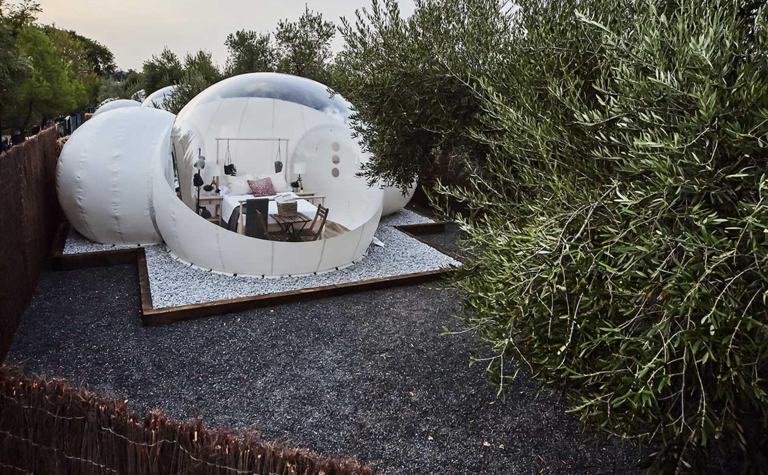 Nomading Camp Ronda. Hotel burbuja