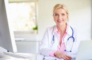 doctor smiling stethoscope