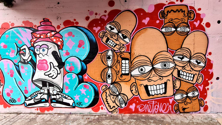 Rebobinart. Arte urbano en Madrid. Vallecas