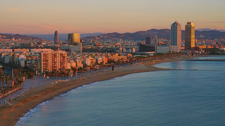 Vista panoràmica des de l'Hotel W, Barcelona