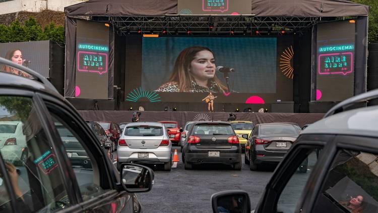Autocinema Aire Libre Coyoacán al sur de la Ciudad de México