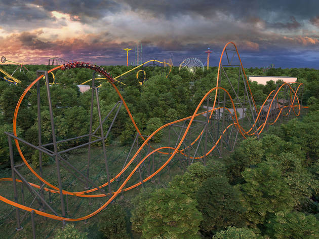 The biggest and fastest single-rail coaster in the world is opening an hour outside of NYC this year