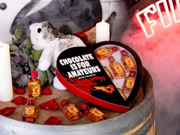 You can give your Valentine ten bottles of spicy whisky in this heart-shaped box