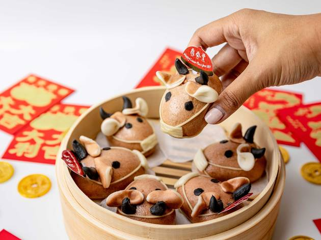 Din Tai Fung is making adorable, ox-shaped chocolate buns for Lunar New Year