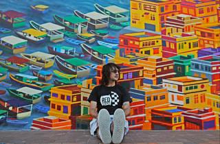 Winerack mural Sai Kung/Alex Croft