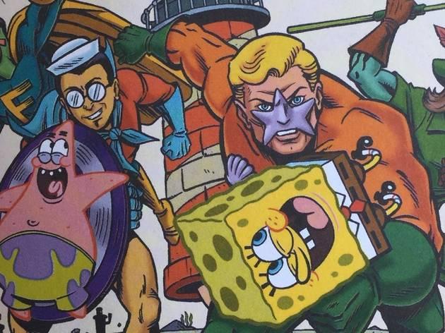 Ilustración de Bob Esponja en portada de cómic