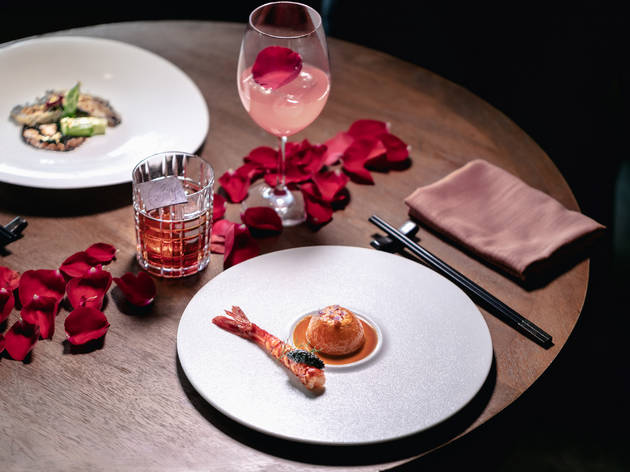 Valentine's Day cocktail pairing menu at Red Sugar