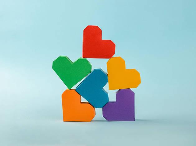 valentine's craft love hearts
