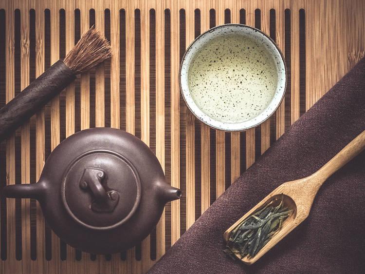 Probar el mejor té chino