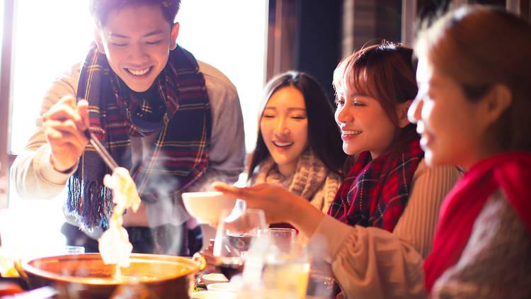 Compartiendo comida china