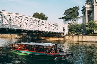 bridge, boat