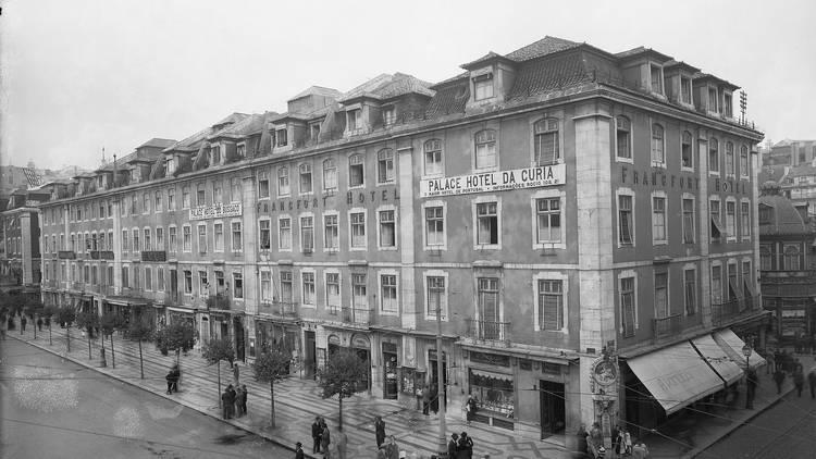 Pátio das Antigas, Lisboa Antiga, Hotel Francfort do Rossio