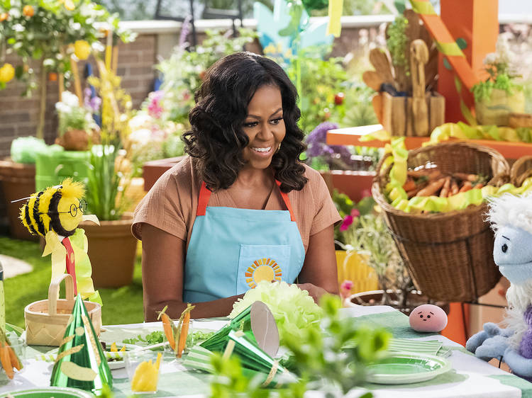 You don't have to be a kid to get a kick out of Michelle Obama's new cooking show on Netflix