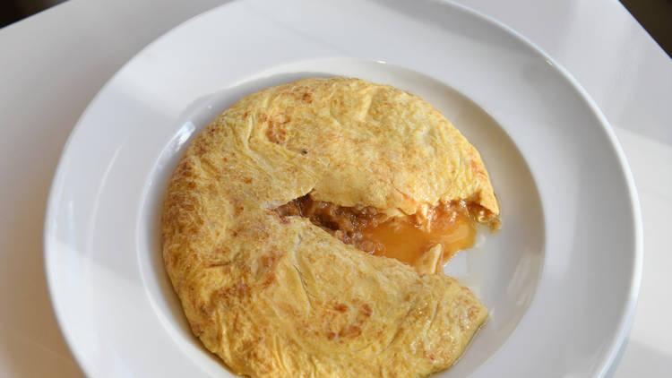 Truita de pa amb tomàquet del Croma
