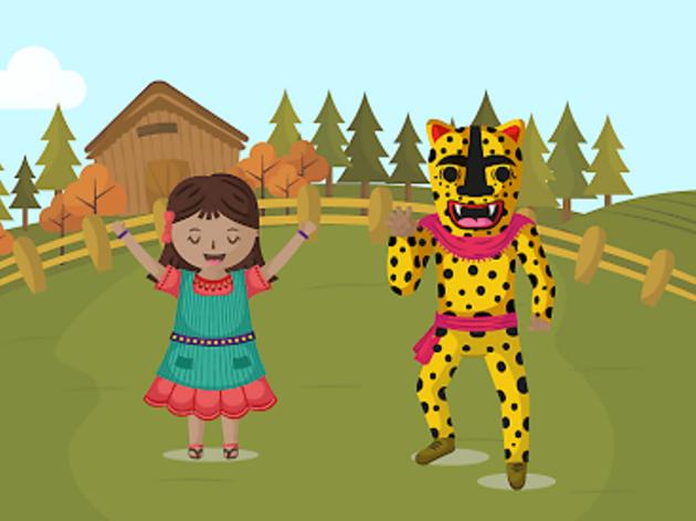 Niñas y niños dialogando en náhuatl