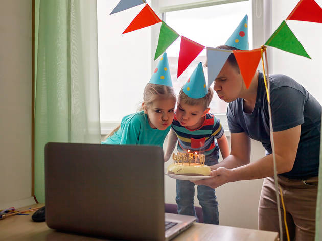Fiestas virtuales de cumpleaños